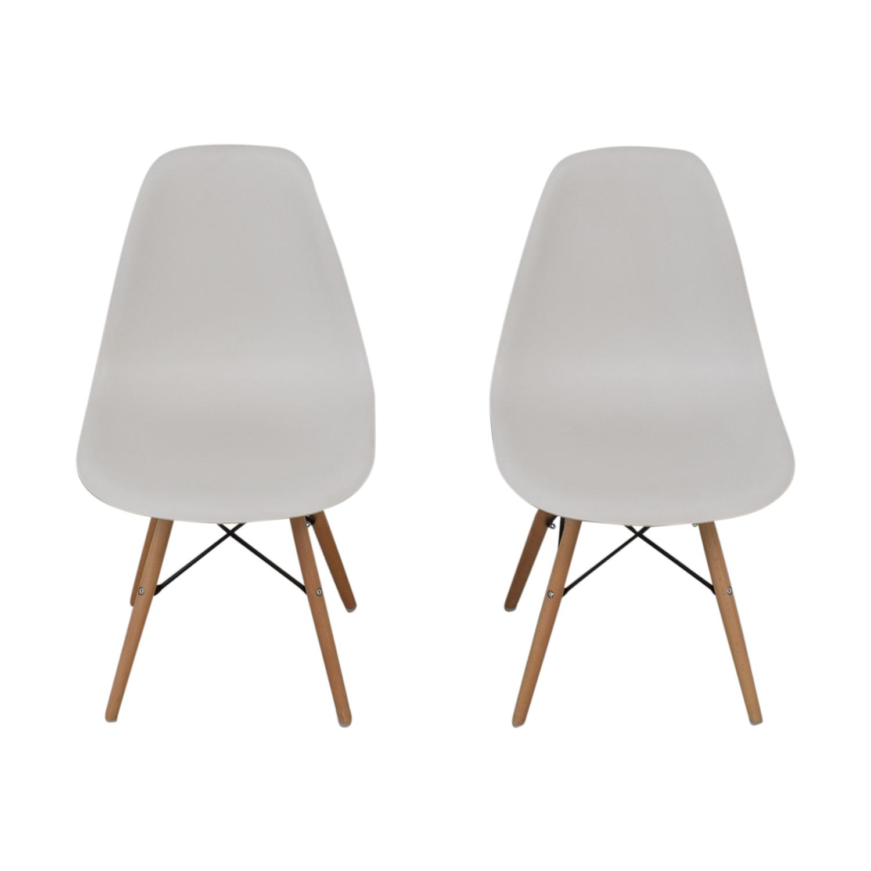 Wayfair Wayfair Eames Replica White Dining Chairs dimensions