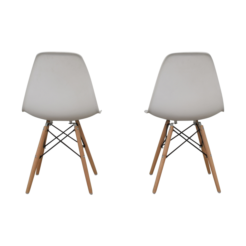 Wayfair Wayfair Eames Replica White Dining Chairs white
