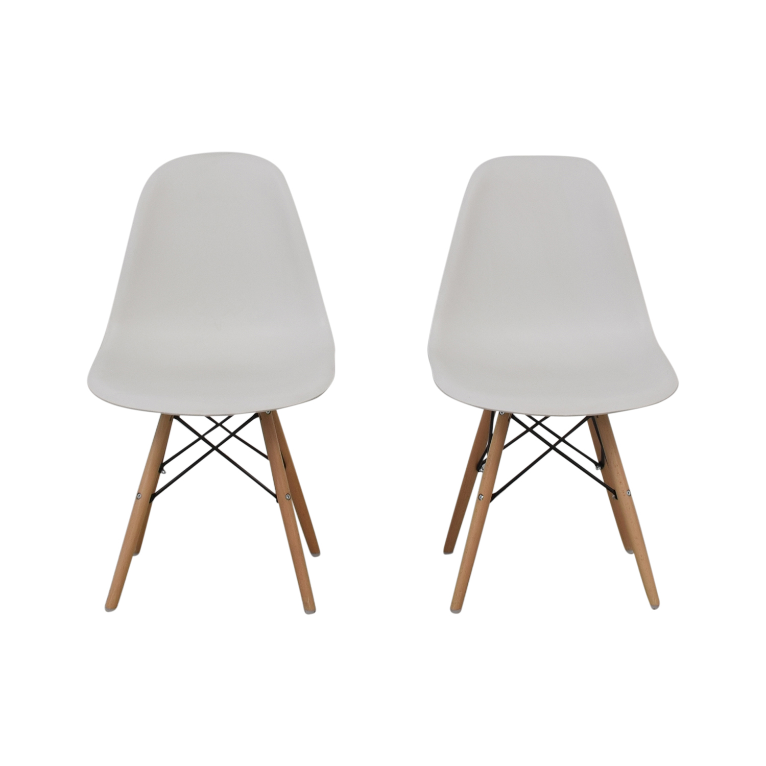 buy Wayfair Wayfair Eames Replica White Dining Chairs online