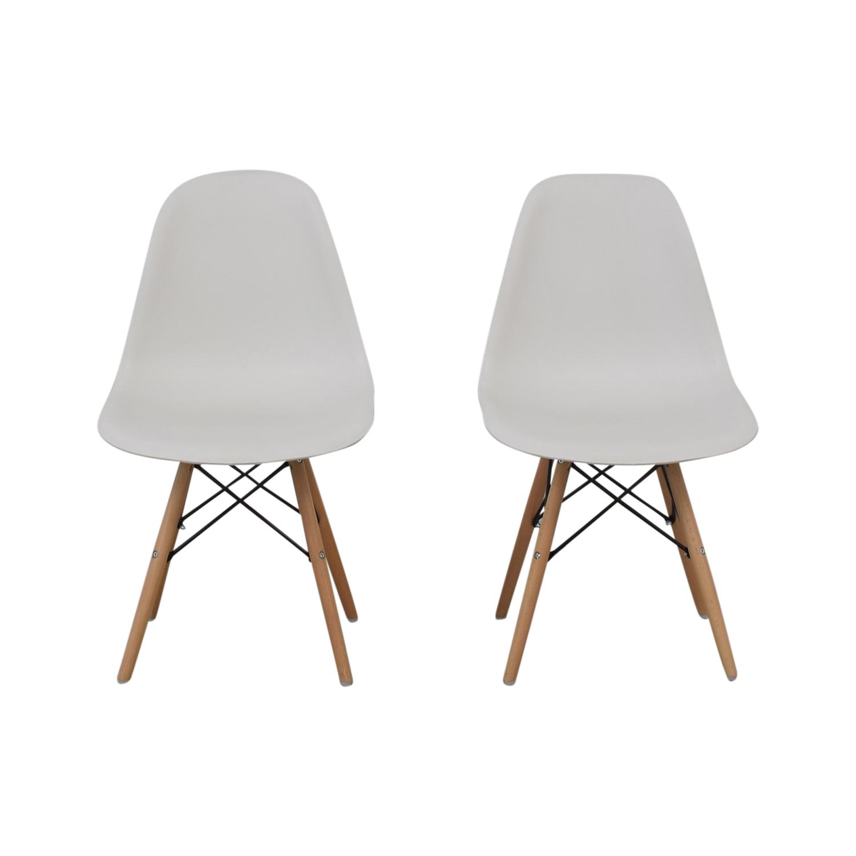 shop Wayfair Eames Replica White Dining Chairs Wayfair Chairs