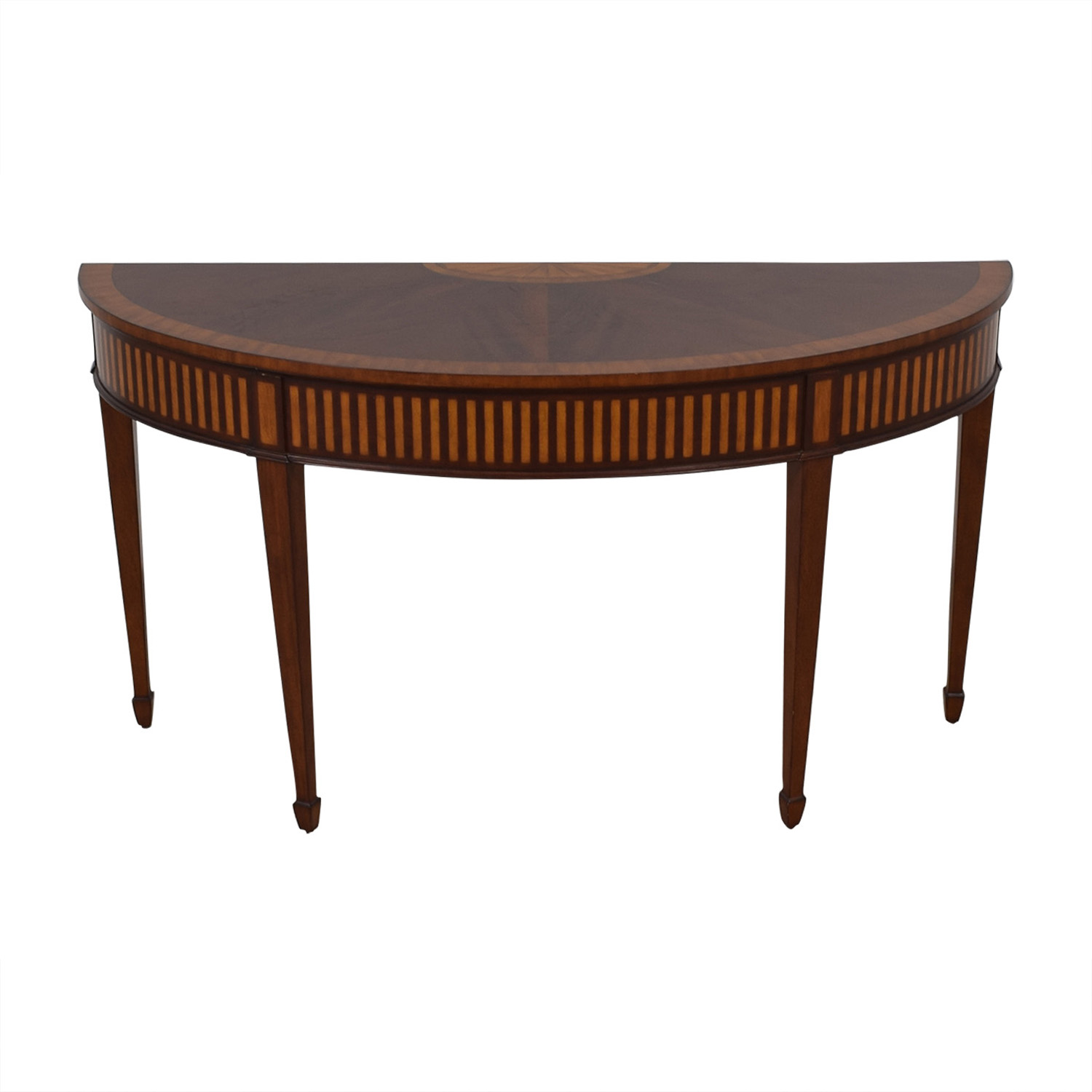 shop Ethan Allen Newman Demilune Sofa Table Ethan Allen Accent Tables