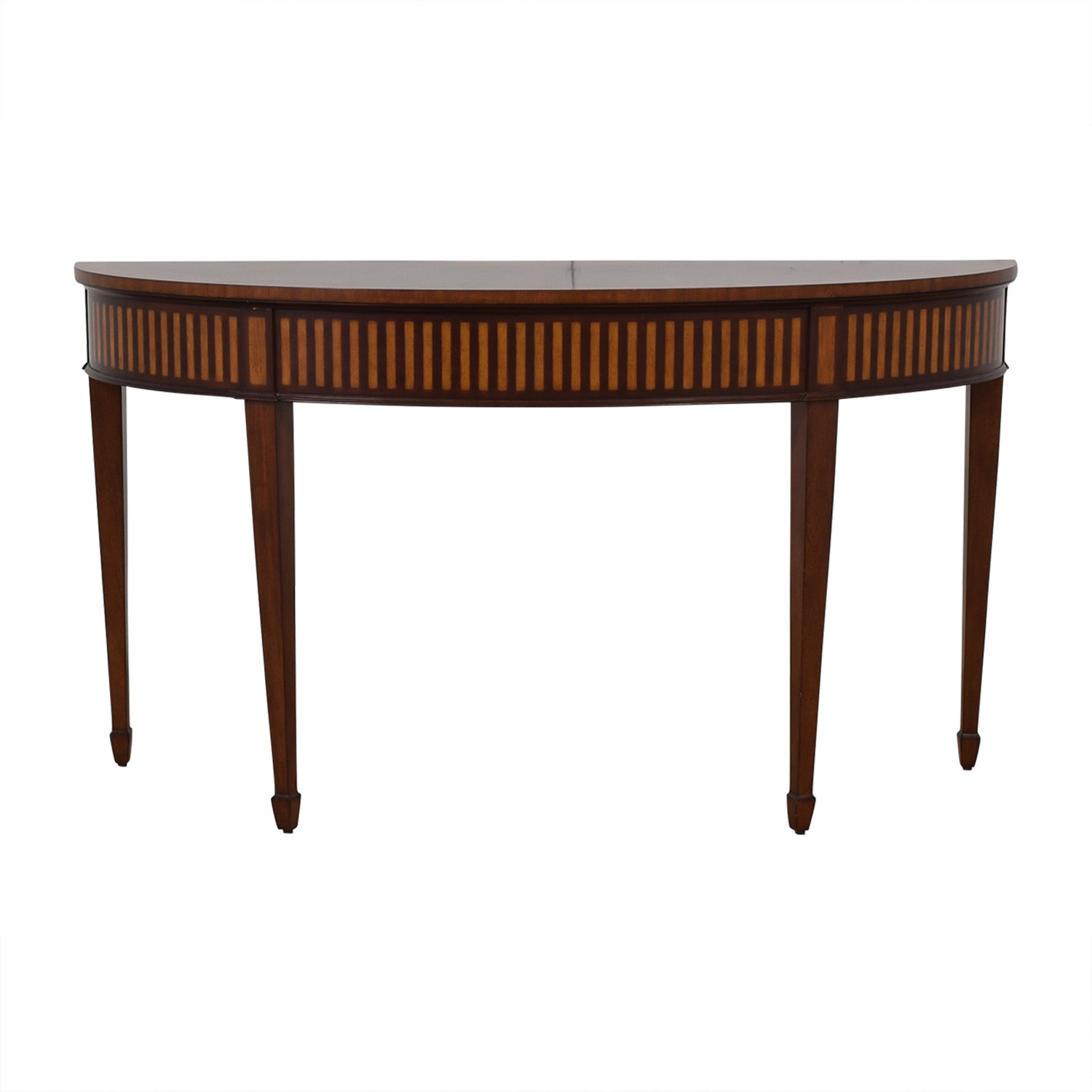 Ethan Allen Newman Demilune Sofa Table / Tables
