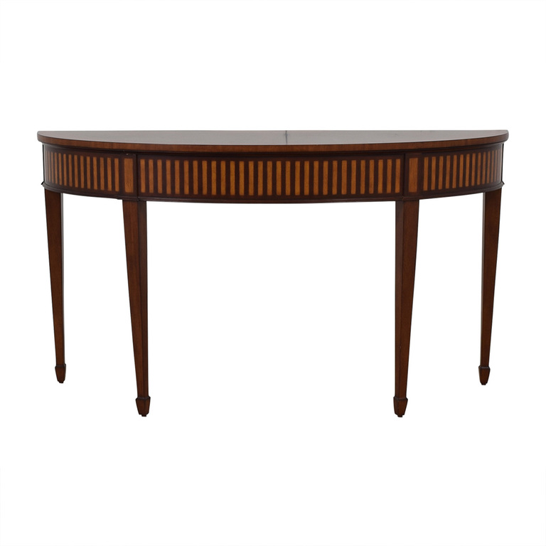 Ethan Allen Ethan Allen Newman Demilune Sofa Table price