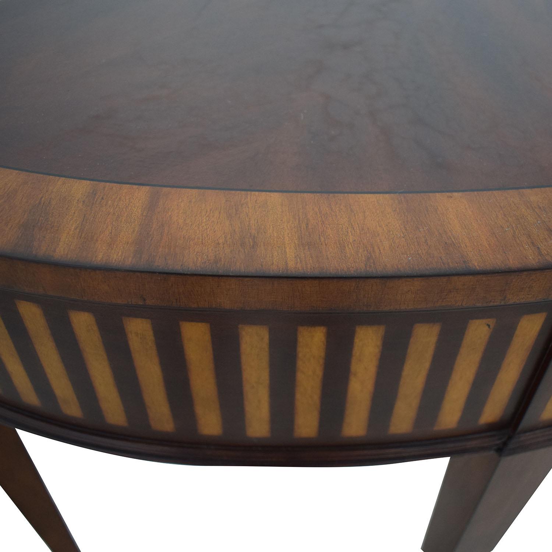 Ethan Allen Ethan Allen Newman Demilune Sofa Table dimensions
