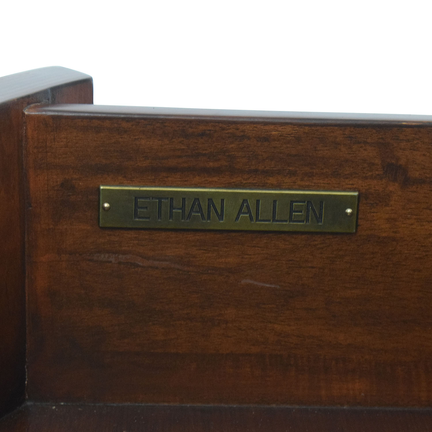 Ethan Allen Round Two-Drawer Accent Table / Tables