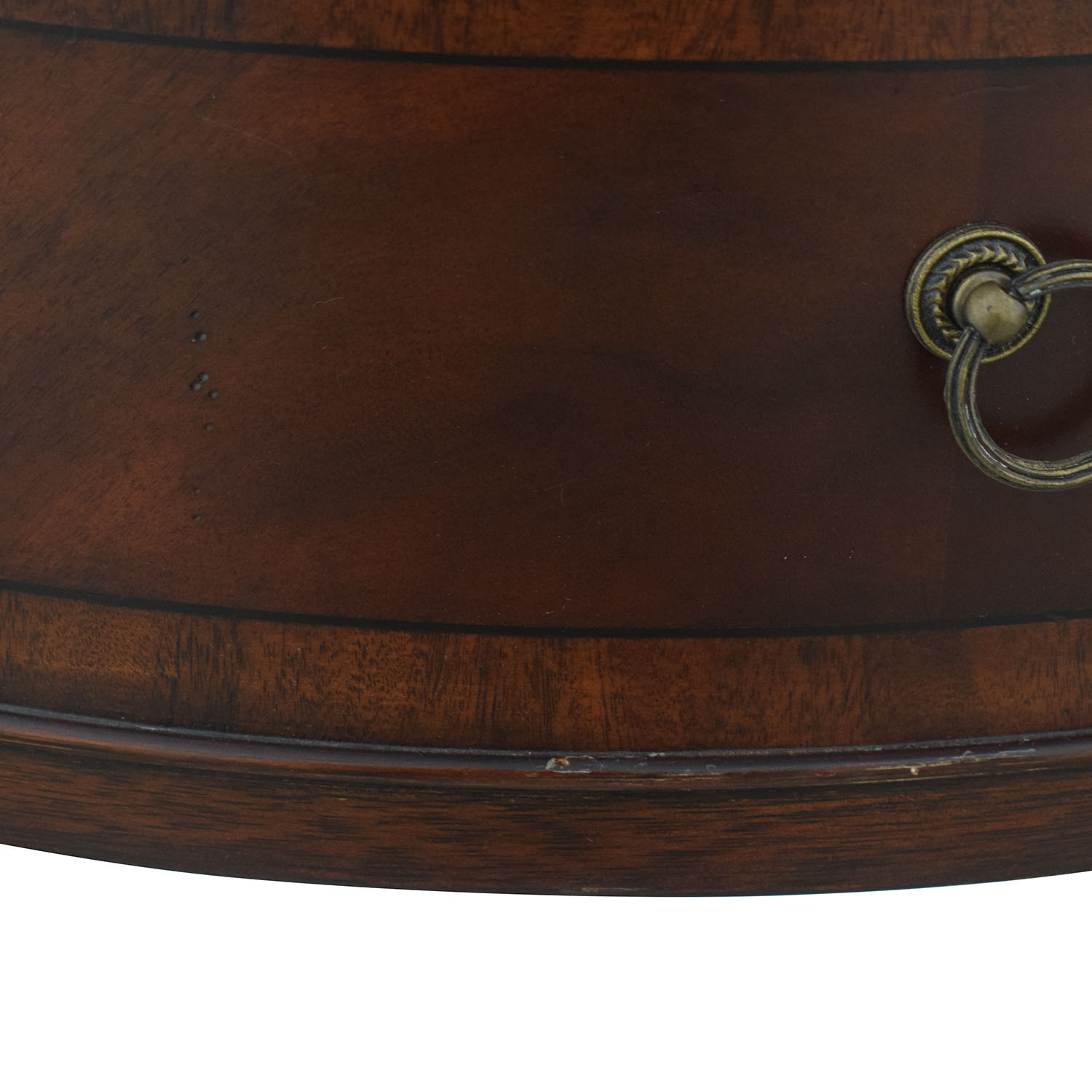 shop Ethan Allen Round Two-Drawer Accent Table Ethan Allen Tables