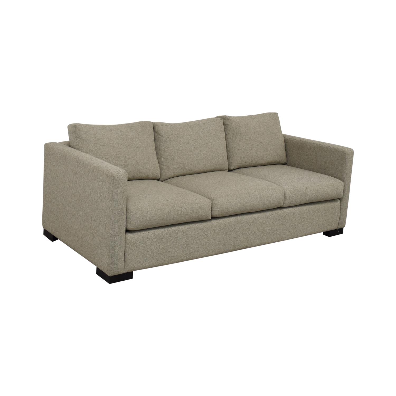 shop Contemporary Beige Linen Sofa