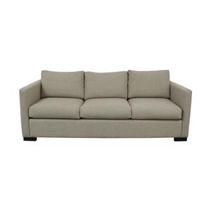 Contemporary Beige Linen Sofa discount