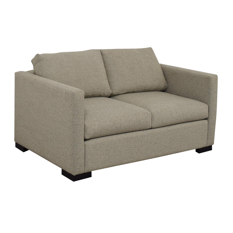 buy  Beige Linen Upholstery Two-Cushion Loveseat online