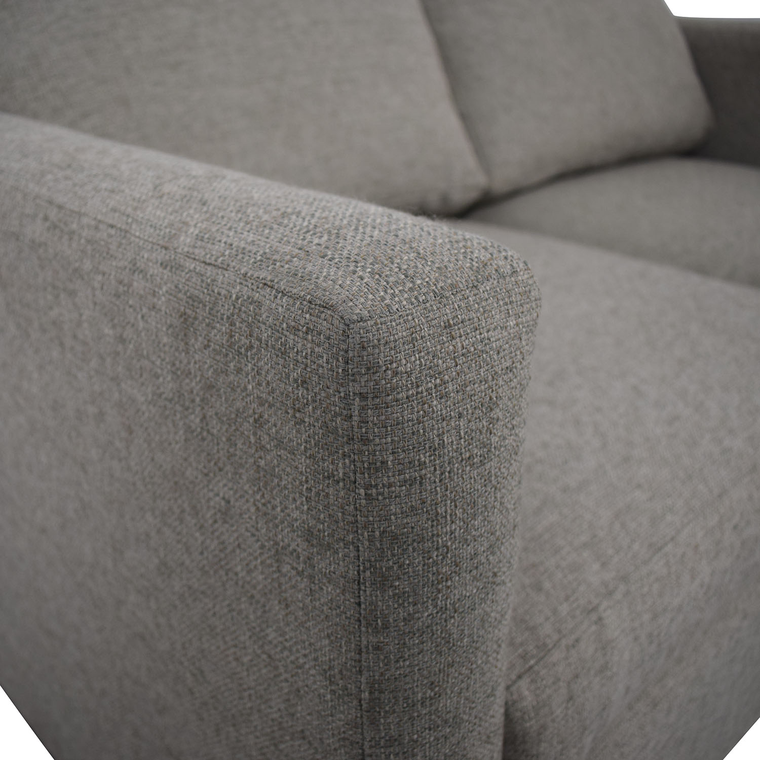 Beige Linen Upholstery Two-Cushion Loveseat used