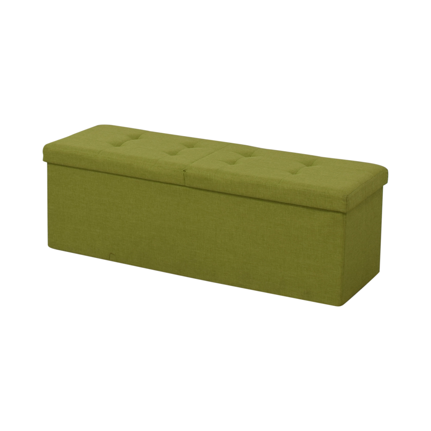 Lime Tufted Storage Bench
