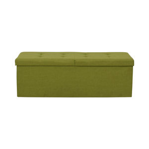 Lime Tufted Storage Bench sale