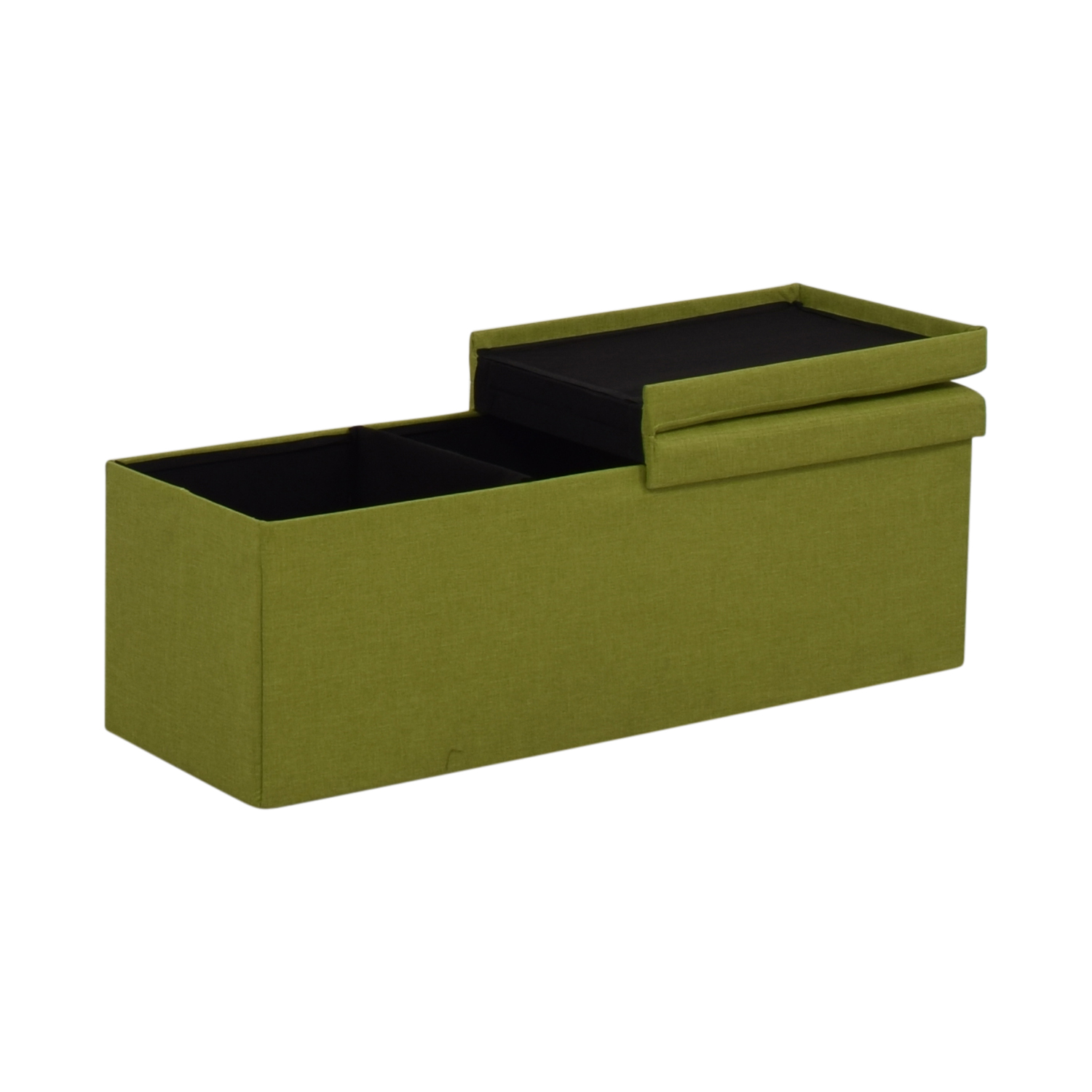 Lime Tufted Storage Bench used