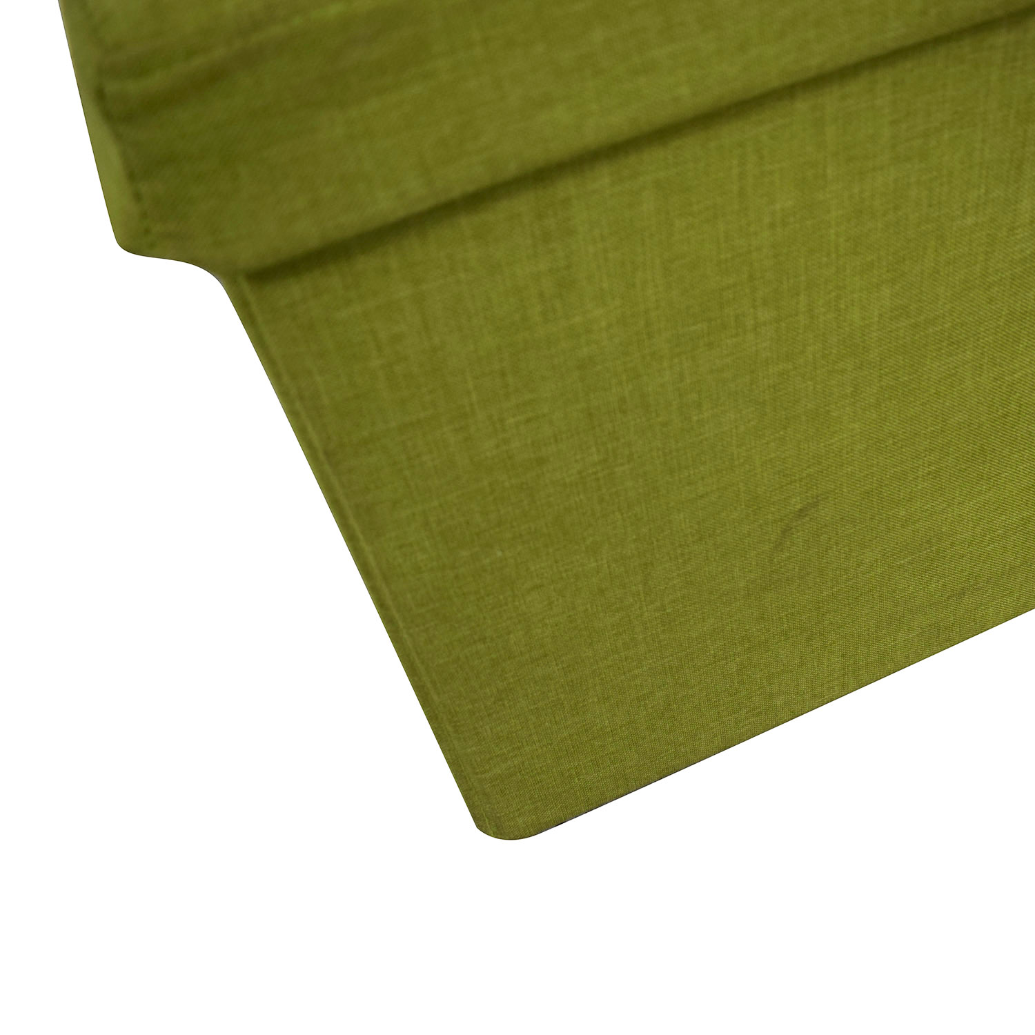 Lime Tufted Storage Bench nyc