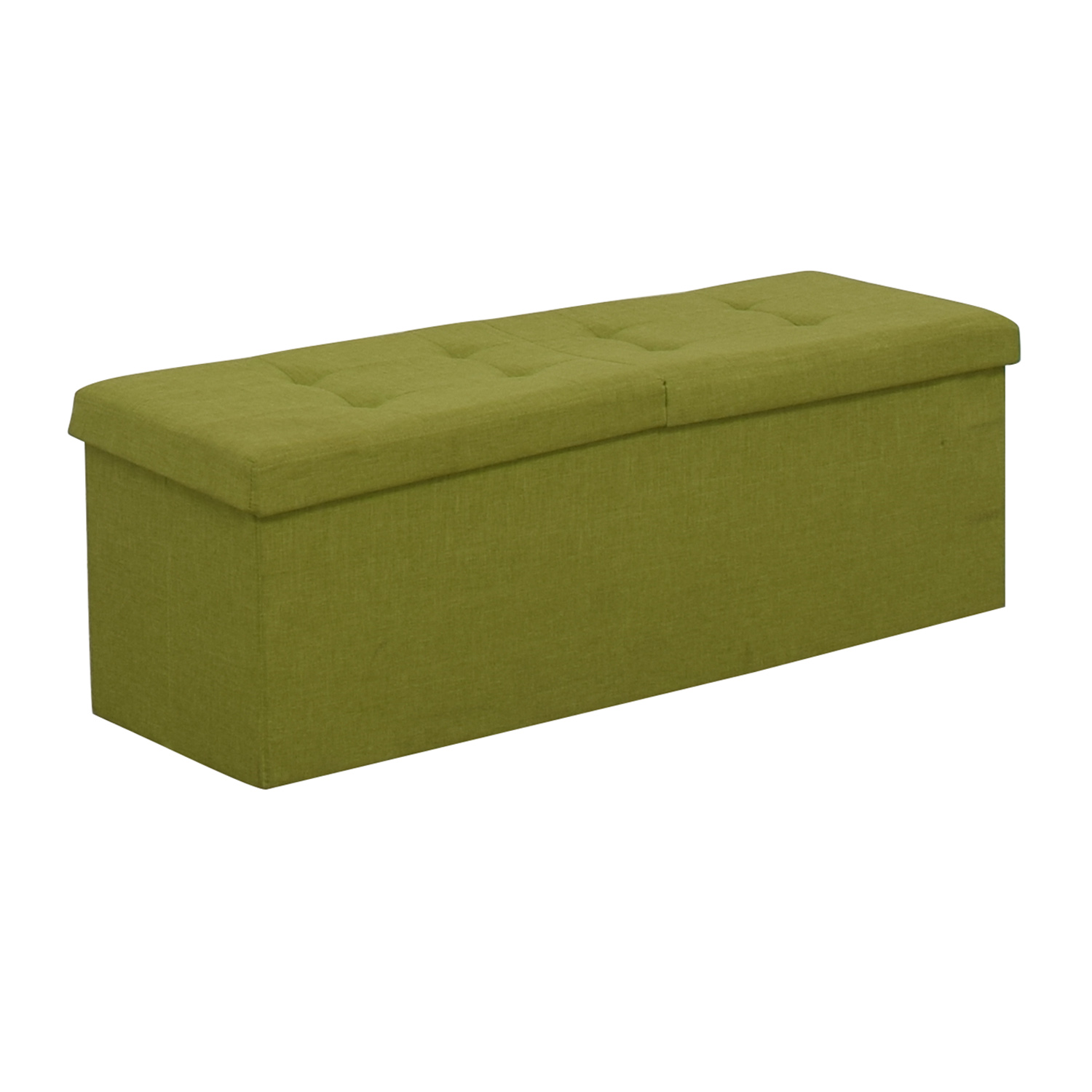 shop Lime Tufted Storage Bench  Benches