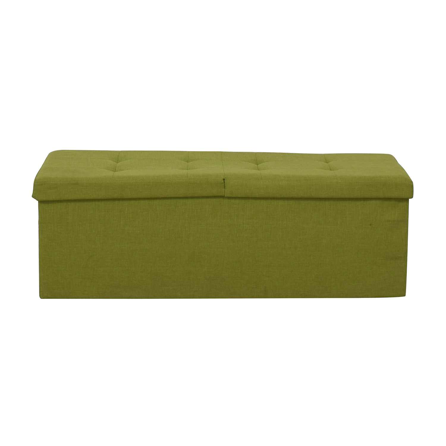 Lime Tufted Storage Bench Benches