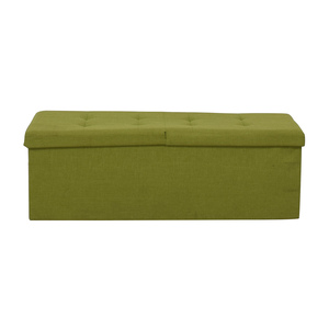 Lime Tufted Storage Bench nj
