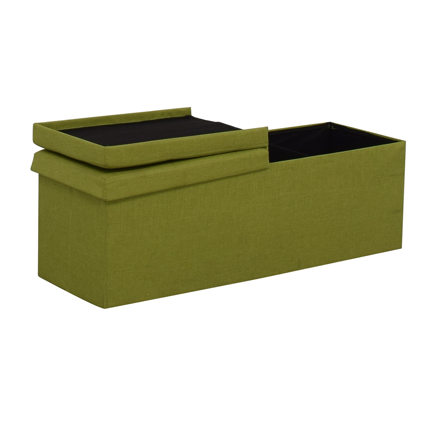 Lime Tufted Storage Bench for sale