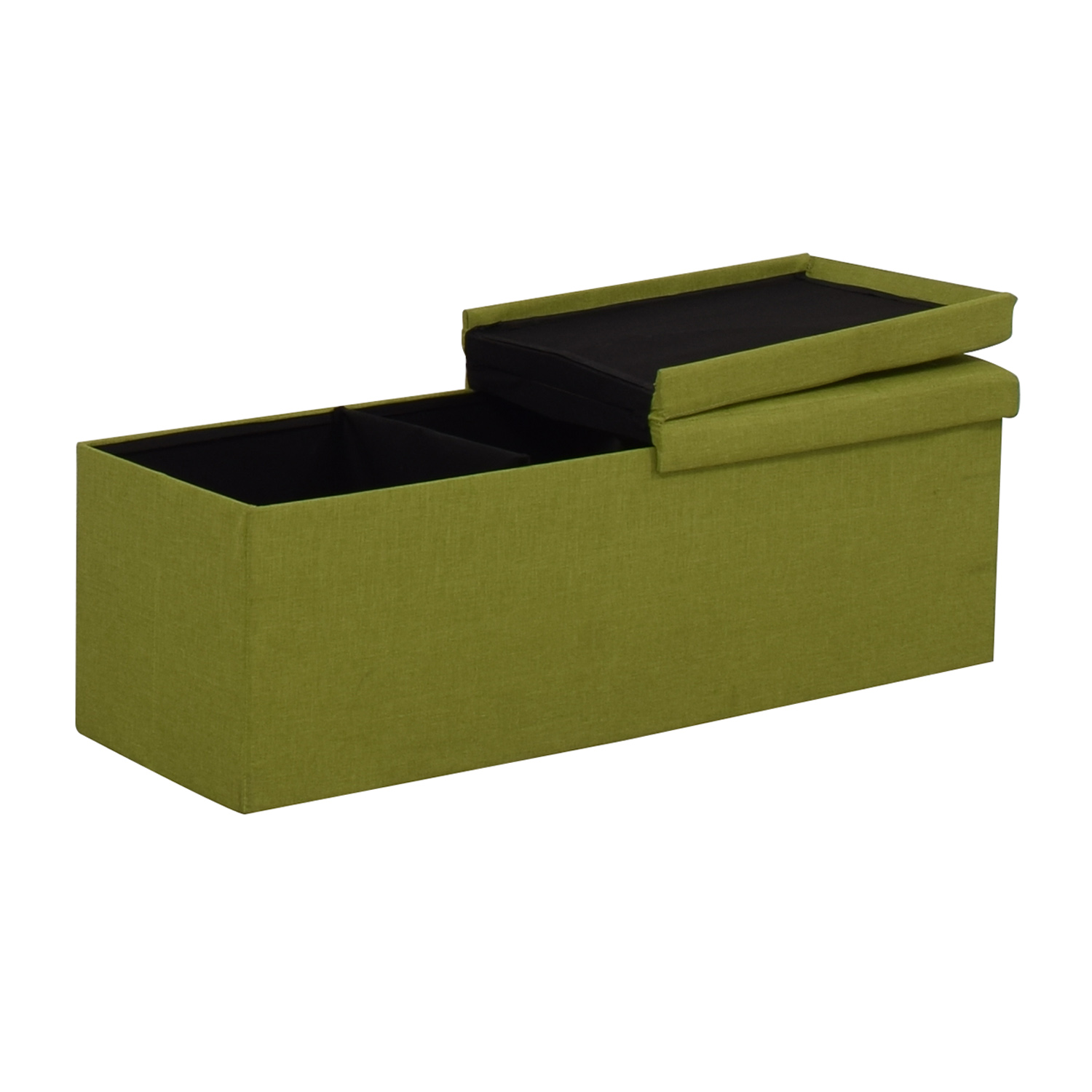 Lime Tufted Storage Bench / Chairs