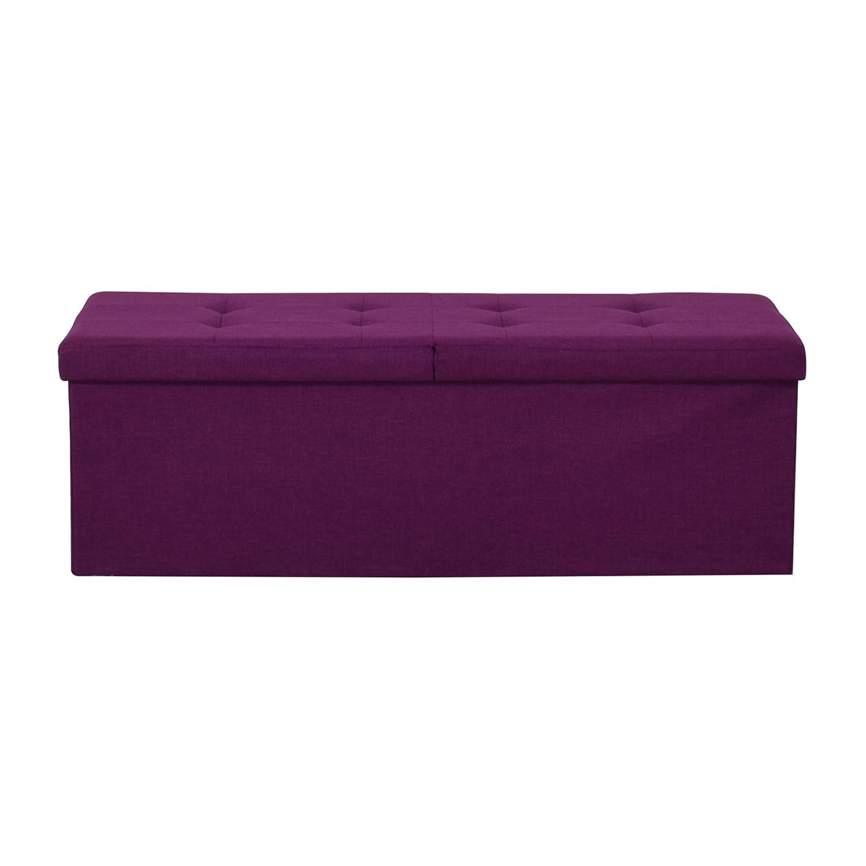 Magenta Tufted Storage Bench