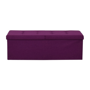 Magenta Tufted Storage Bench Storage