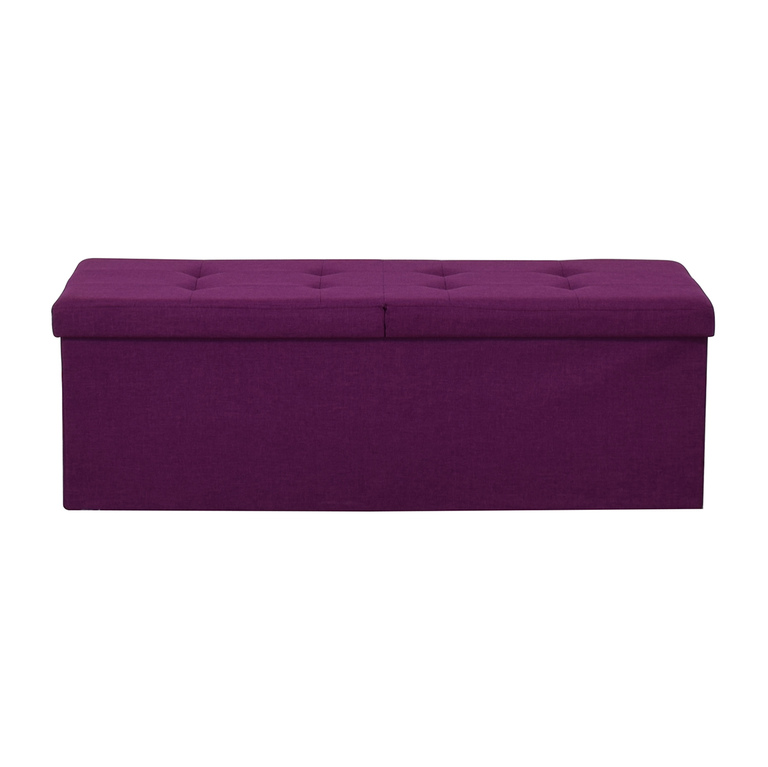 buy Magenta Tufted Storage Bench  Chairs