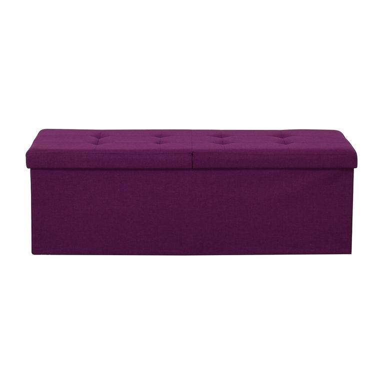 buy Magenta Tufted Storage Bench