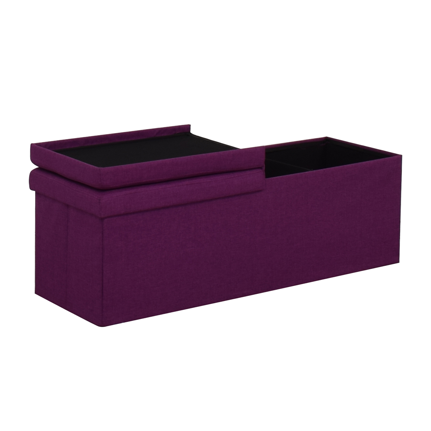 Magenta Tufted Storage Bench nyc