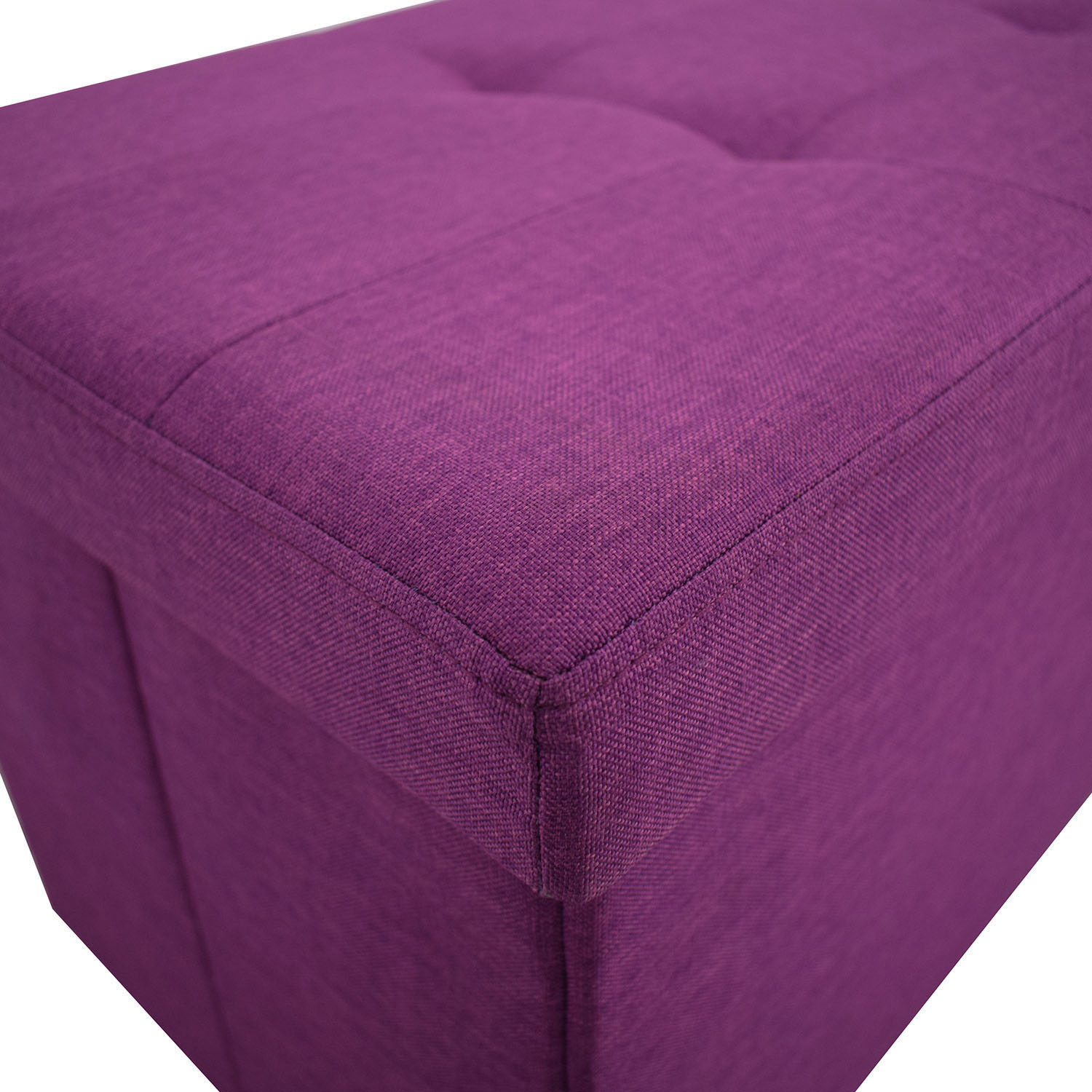 Magenta Tufted Storage Bench Chairs