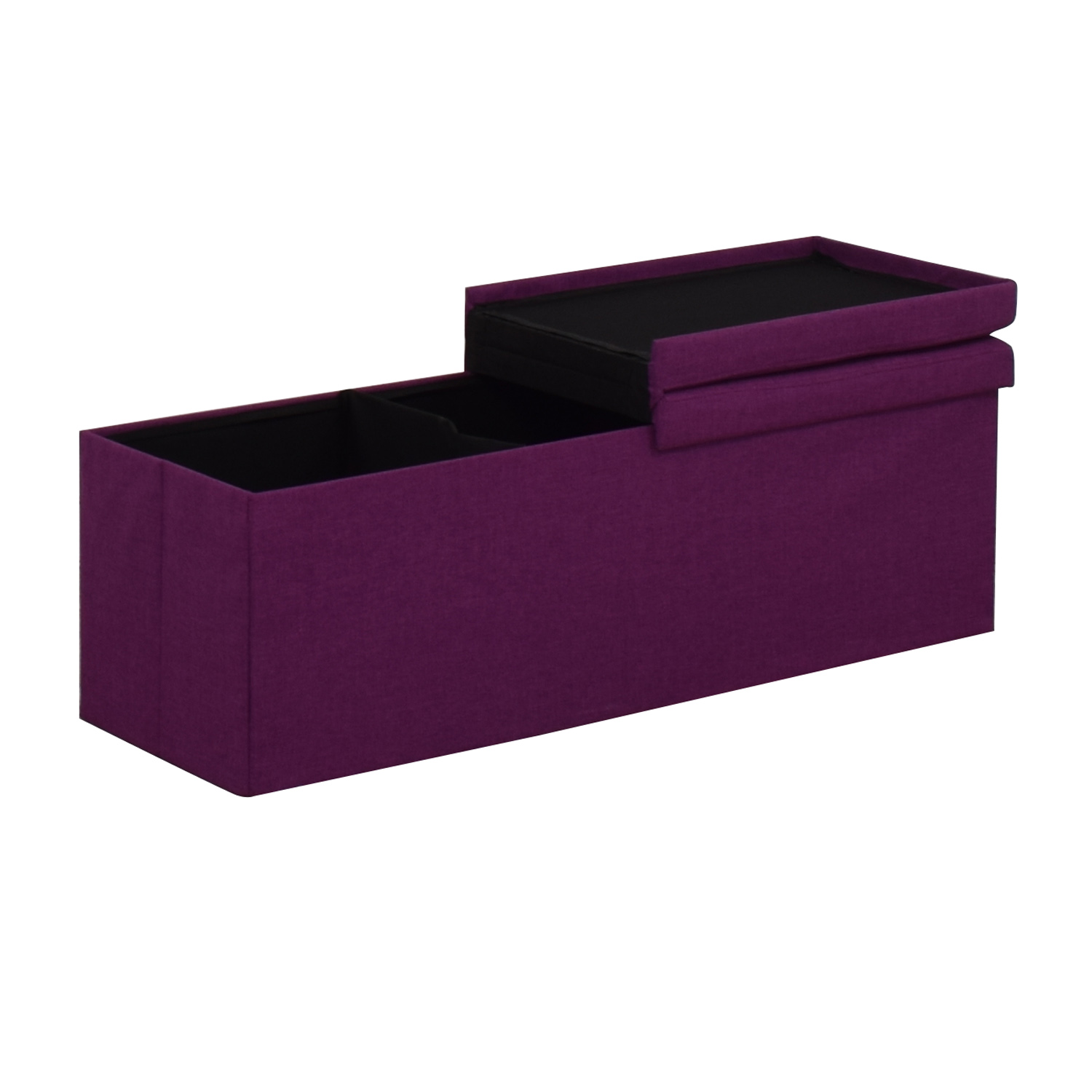 Magenta Tufted Storage Bench coupon