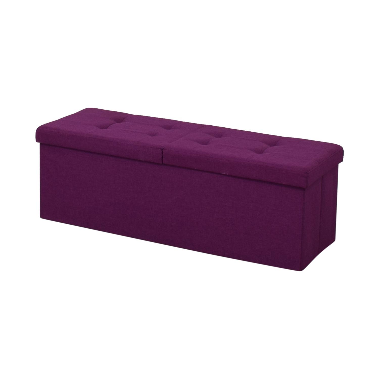 Magenta Tufted Storage Bench sale