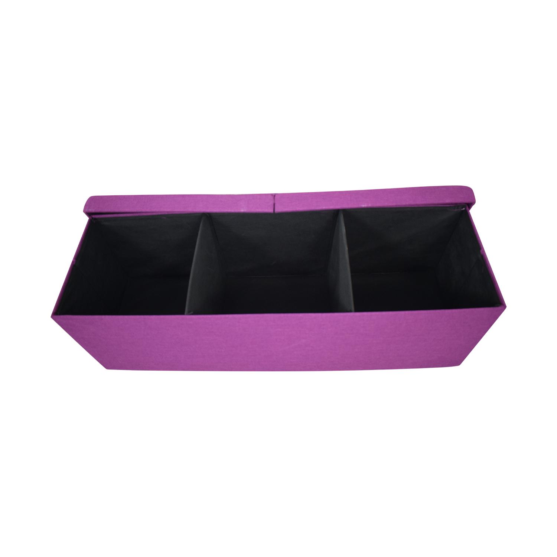 shop Magenta Tufted Storage Bench  Chairs
