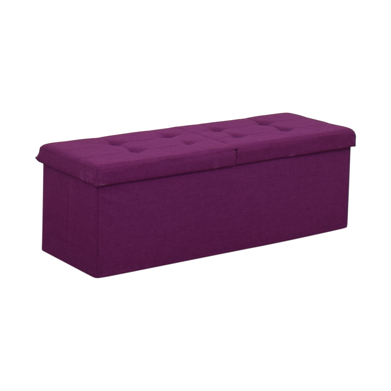 Magenta Tufted Storage Bench coupon