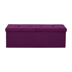 Magenta Tufted Storage Bench on sale