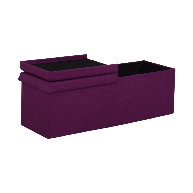 shop  Magenta Tufted Storage Bench online