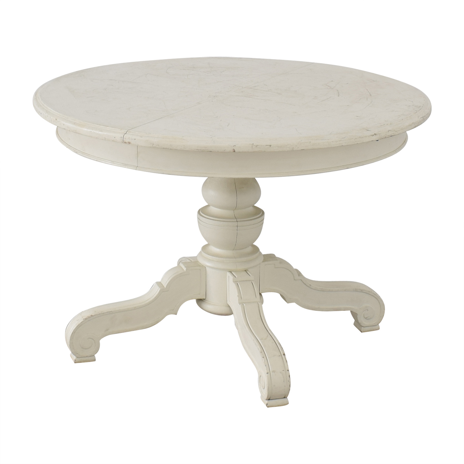 shop  Victorian Style Round White Pedestal Dining Table online