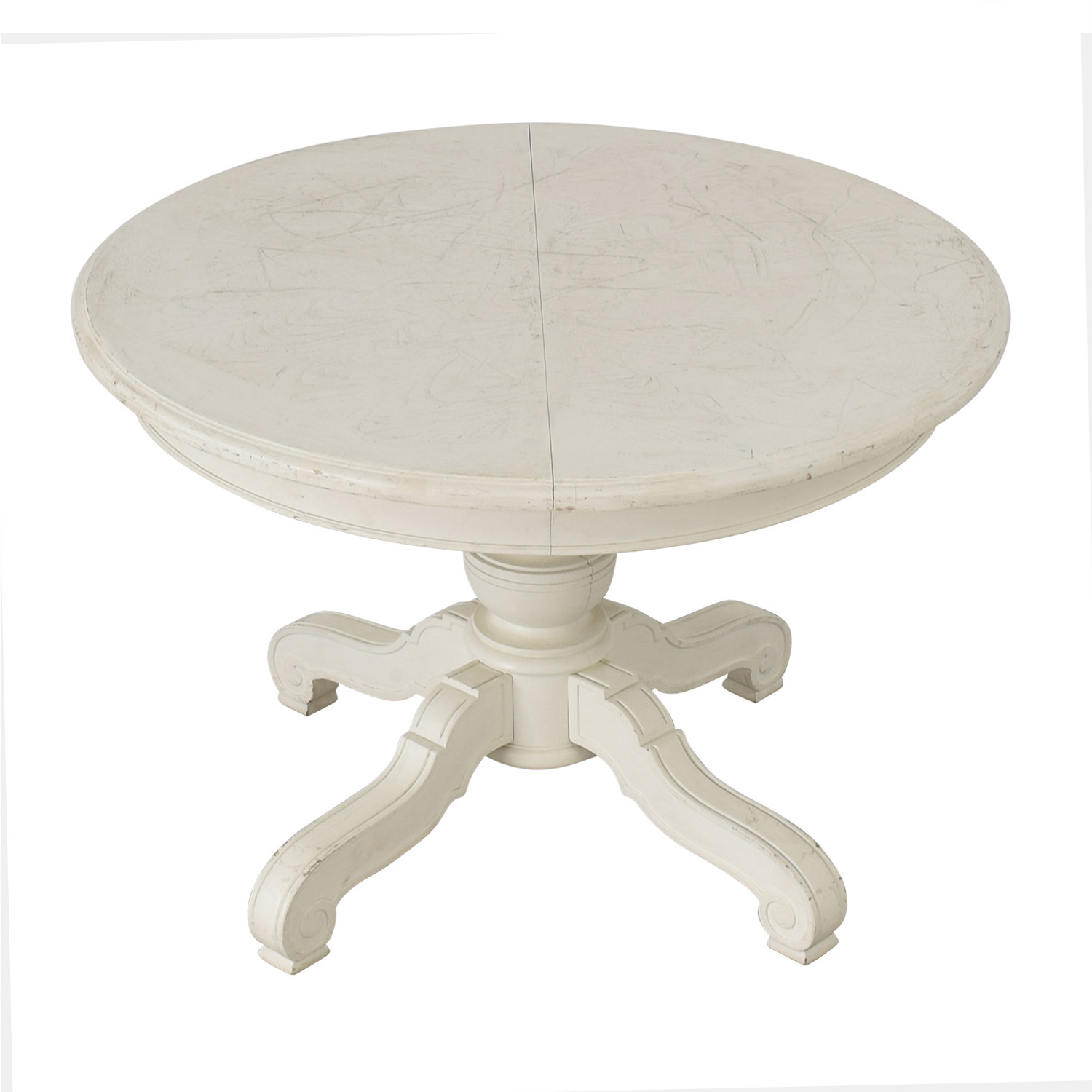 buy Victorian Style Round White Pedestal Dining Table