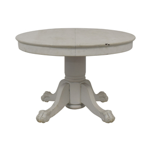 American Country Distressed Round White Oak Table dimensions