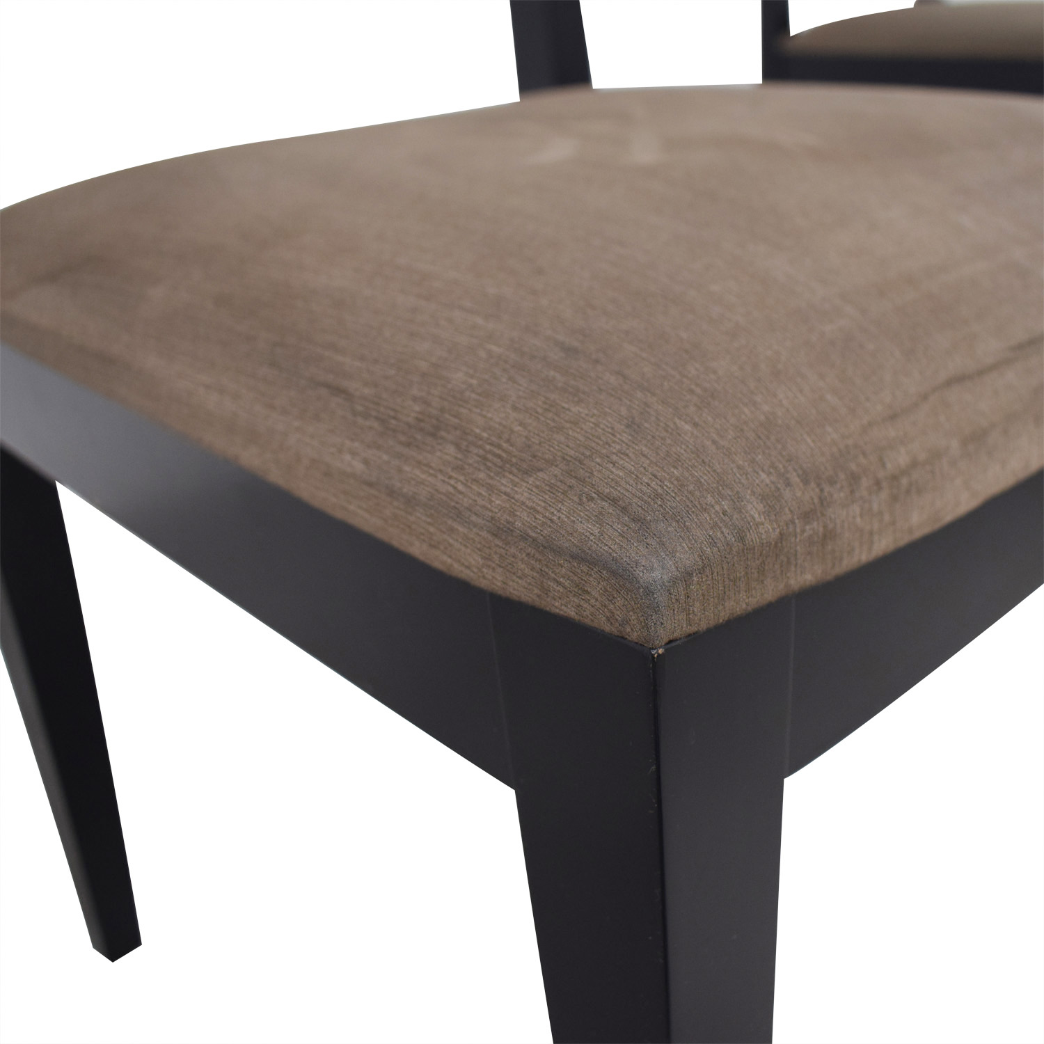 Crate & Barrel Crate & Barrel Halo Table With Basque Upholstered Chairs on sale