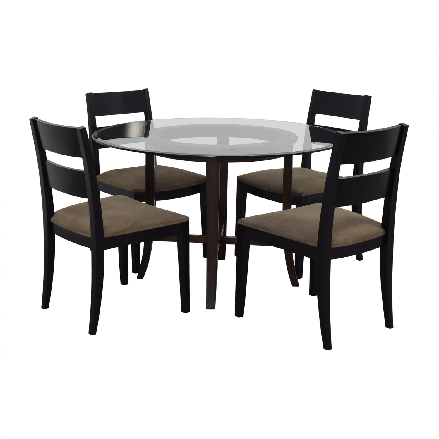 buy Crate & Barrel Halo Table With Basque Upholstered Chairs Crate & Barrel Dinner Tables