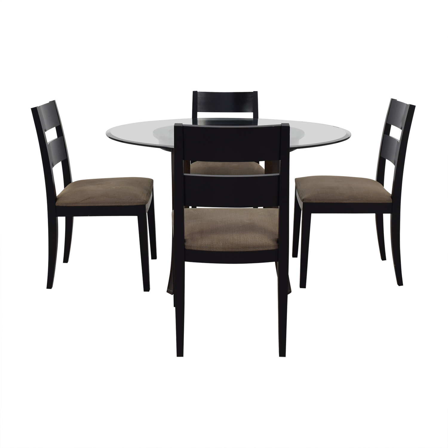 Crate & Barrel Halo Table With Basque Upholstered Chairs sale
