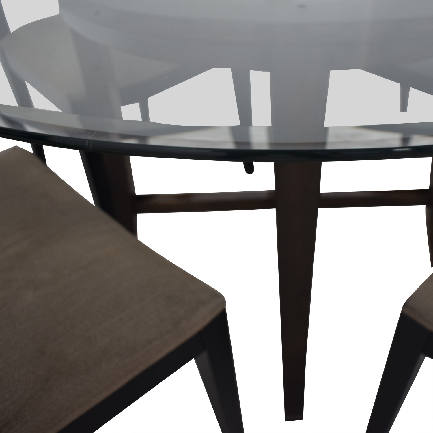 Crate & Barrel Crate & Barrel Halo Table With Basque Upholstered Chairs nj