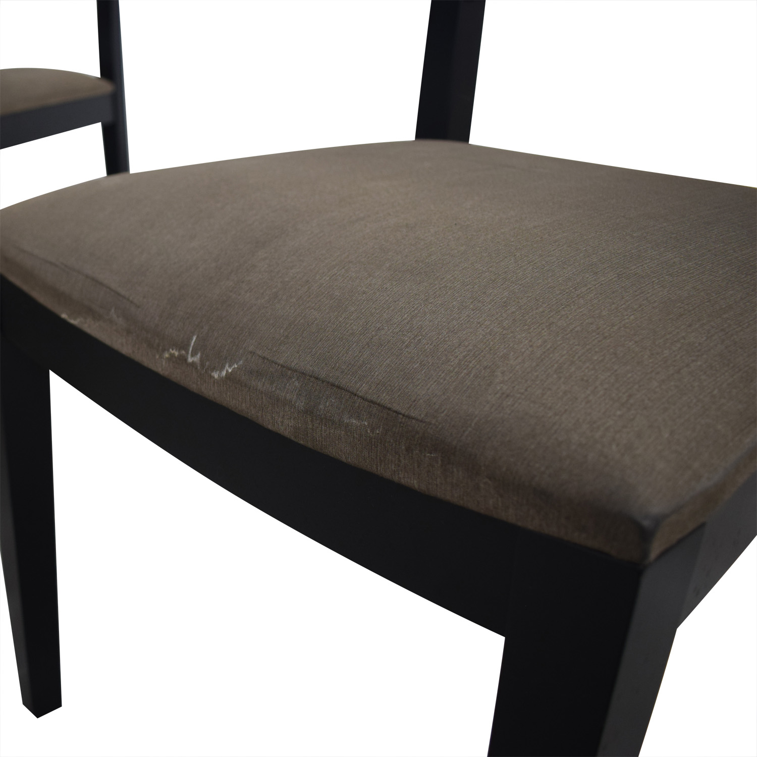 Crate & Barrel Halo Table With Basque Upholstered Chairs / Dinner Tables