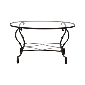 Pier 1 Pier 1 Glass Top Brown Oval Coffee Table used