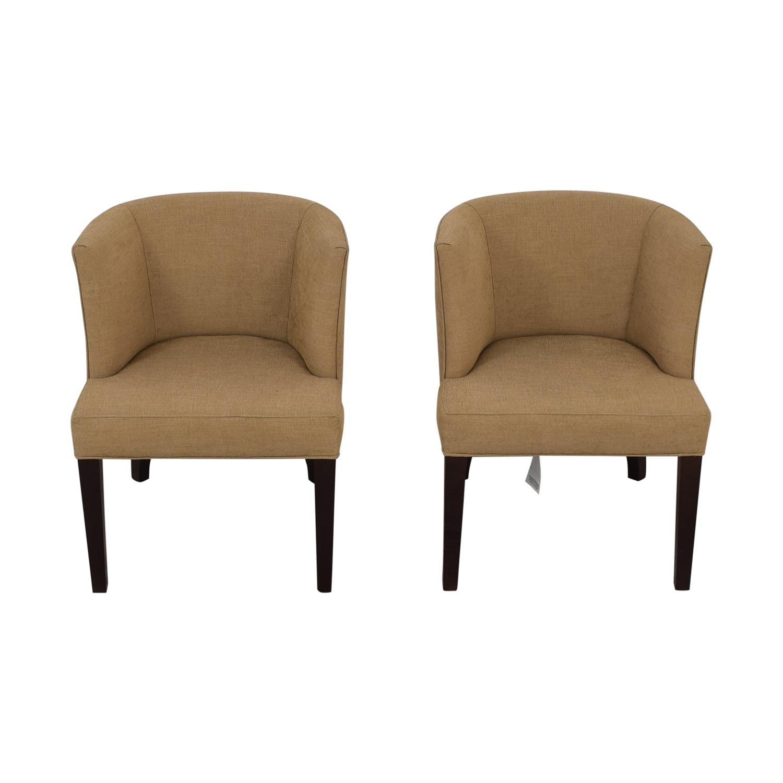 Thayer Coggin Thayer Coggin Kate Beige Dining Chairs discount
