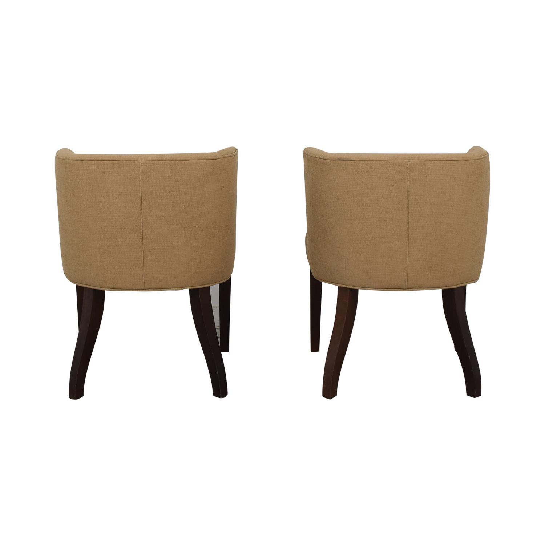 shop Thayer Coggin Kate Beige Dining Chairs Thayer Coggin Chairs