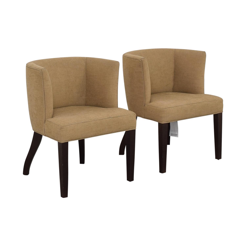 shop Thayer Coggin Kate Beige Dining Chairs Thayer Coggin