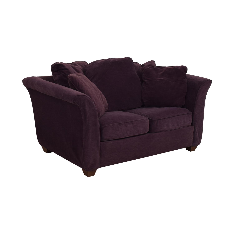 Bauhaus Furniture Bauhaus Furniture Plum Two-Cushion Loveseat on sale