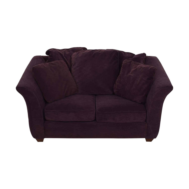 shop Bauhaus Furniture Plum Two-Cushion Loveseat Bauhaus Furniture