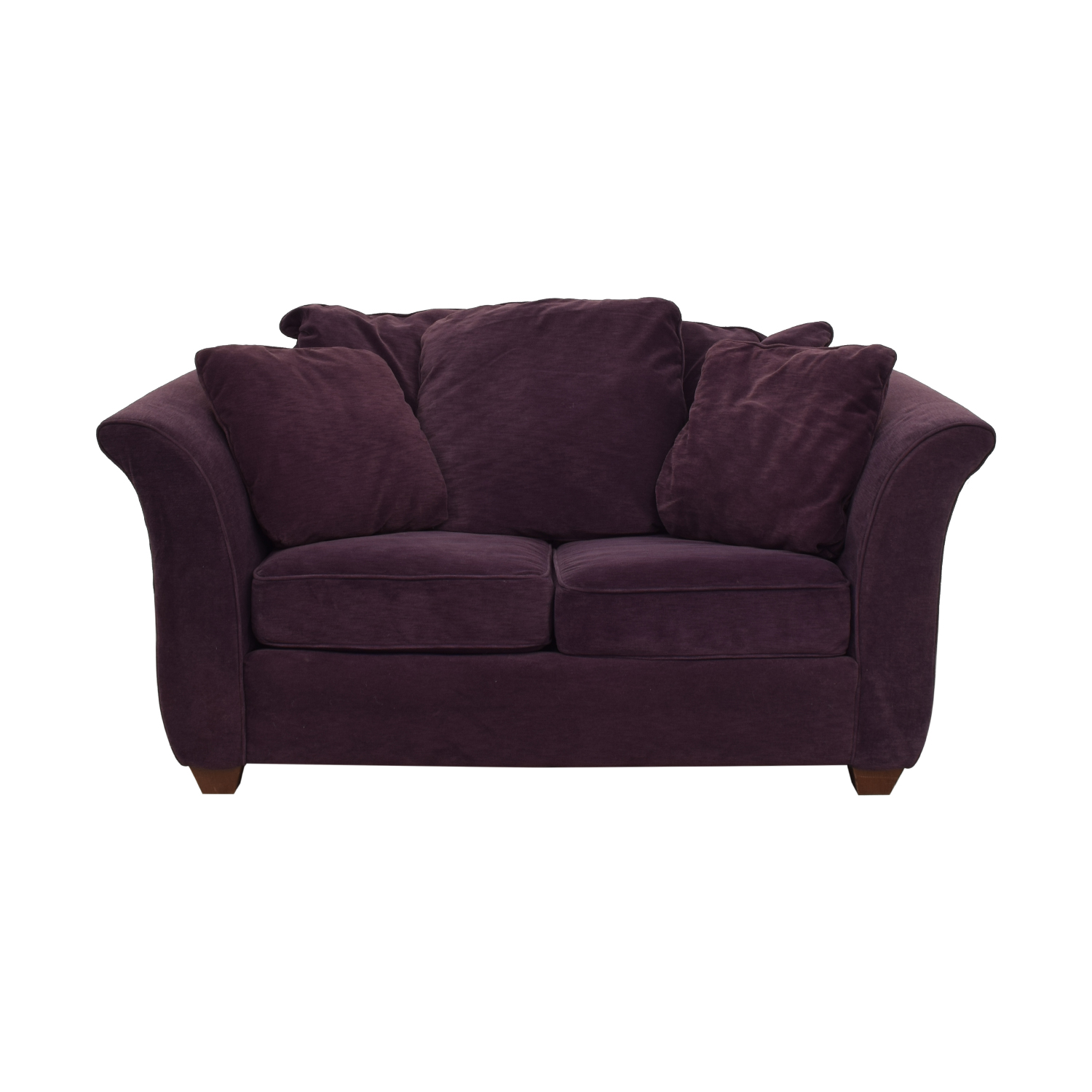buy Bauhaus Furniture Plum Two-Cushion Loveseat Bauhaus Furniture